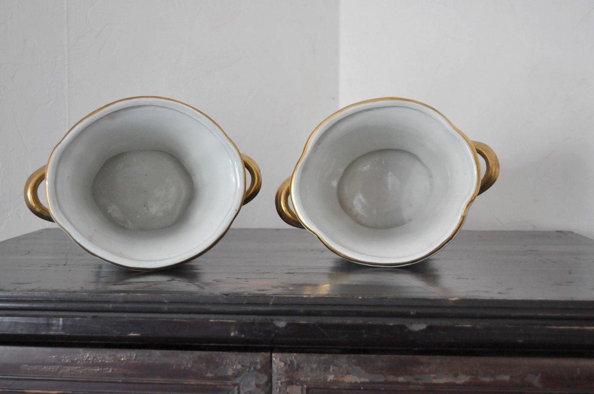 Paire De Pots En Porcelaine - Début XXème-photo-5