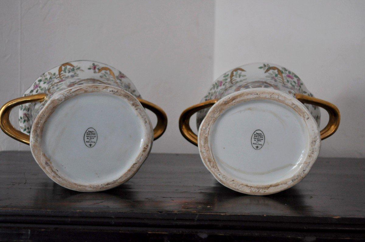 Paire De Pots En Porcelaine - Début XXème-photo-6