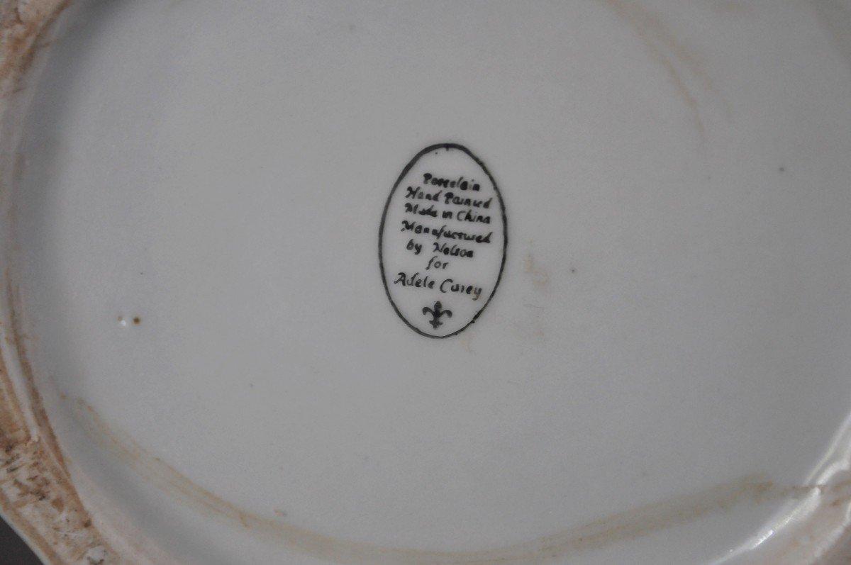 Paire De Pots En Porcelaine - Début XXème-photo-7