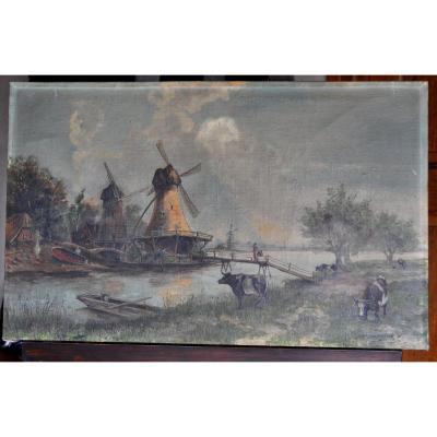Tableau - Peinture - Huile Sur Toile Signée Depooter Frans 1898-1987