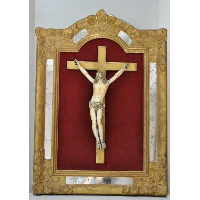 Crucifix - Grand Christ Ivoire 33 Cm - France - XVIIème