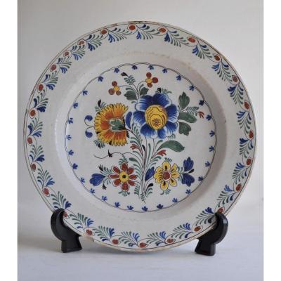 Delft - Polychrome Faience Dish - XVIIIth