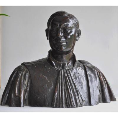 Adelin Salle (1884-1952) - Fondeur Verbeyst - Sculpture, Un Homme De Loi - Bronze (patiné)