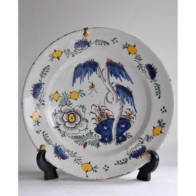 Delft - Polychrome Earthenware Dish - XVIIIth