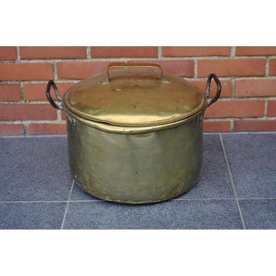 Cauldron - Brass Pot - XVIIIth