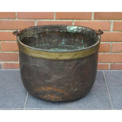 Large Cauldron In Red Copper - France - XVIIIth