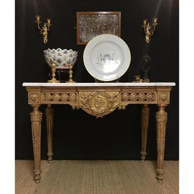 Belle Table En Console D'époque Louis XVI, France XVIIIé