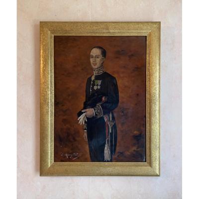 «Lucien Margottet 1884-1950» Portrait D'officier Vers 1930