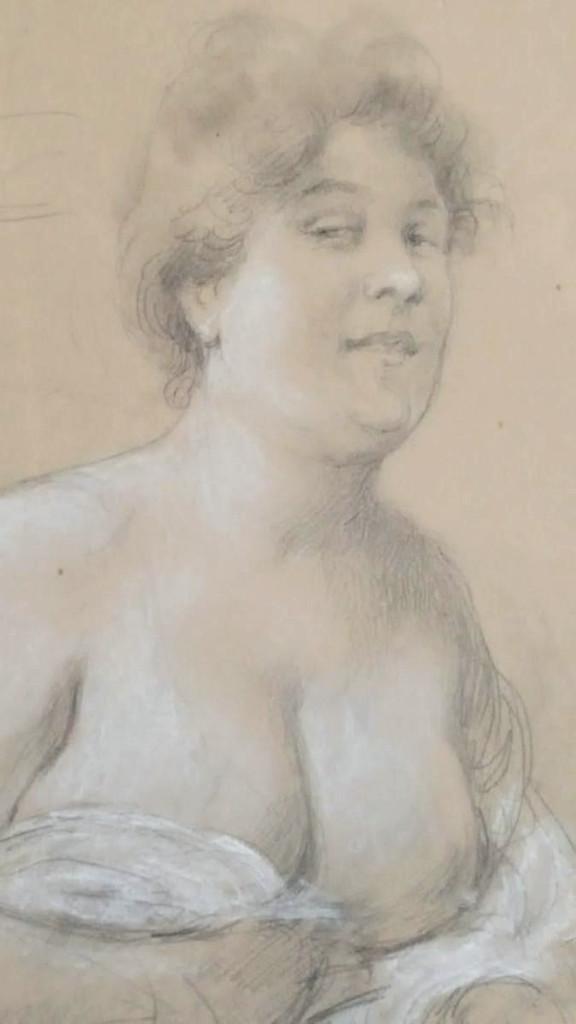 Edouard Zier - Portrait Of Woman