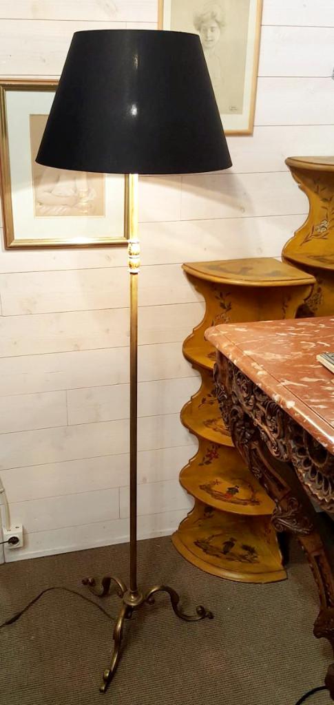 Lampadaire De Parquet - Bronze Et Laiton - Vers 1950