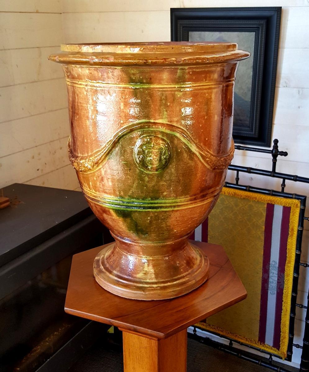 Anduze - Vase En Terre Cuite vernissée 50cm