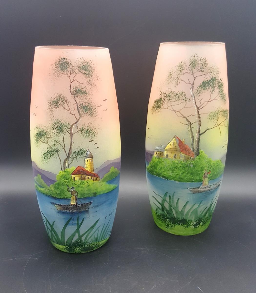 Paire De Vases Vers 1920, Par Pierre Jost