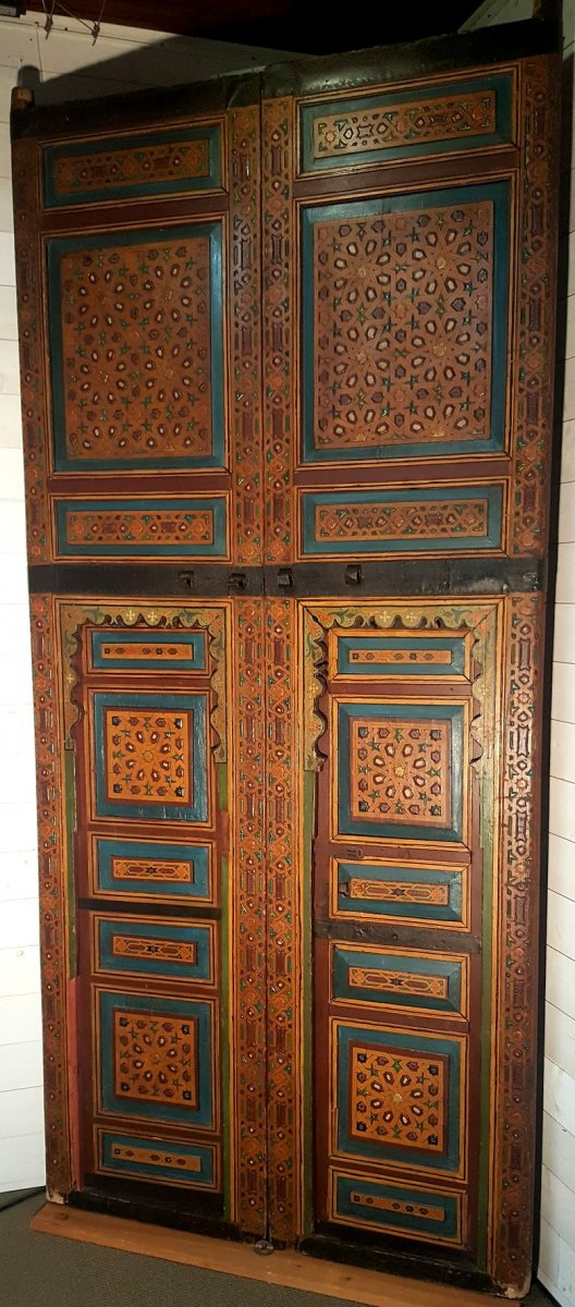 Doubles Portes De Riad  -  Maroc  XIXème