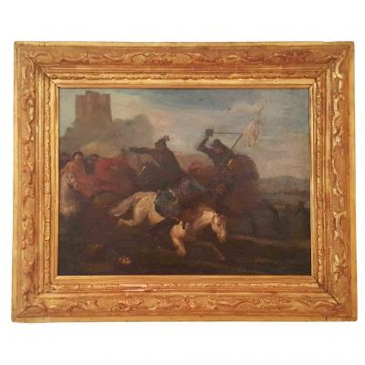 """cavalry Shock, Battle Scene"" French North School"