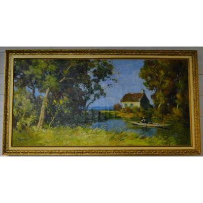 "Paul Eschbach (1881-1961) - ""Le pêcheur"" [Concarneau XX°]"