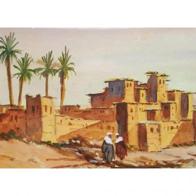 Pair Of Orientalist Gouaches - Pierre De Saedeleer