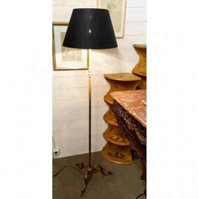 Floor Lamp  - Bronze & Brass - Circa 1950
