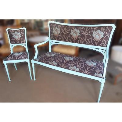 Art Nouveau Lounge (bench & Chair)