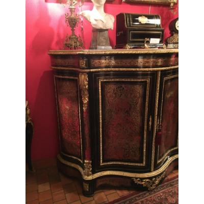 Napoleon III Buffet Boulle Marquetry All Faces Stamped Auguste Delafontaine