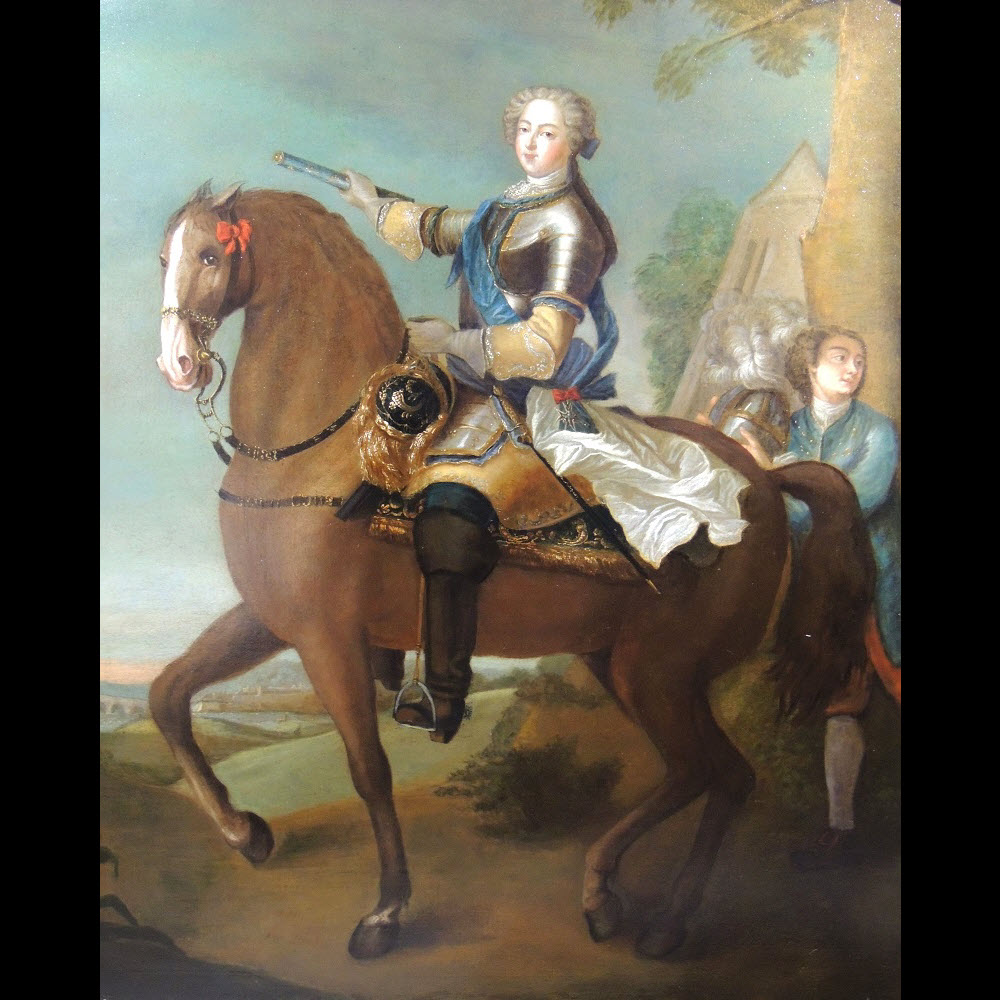 Portrait équestre De Louis XV Vers 1730 – Atelier De Charles Parrocel