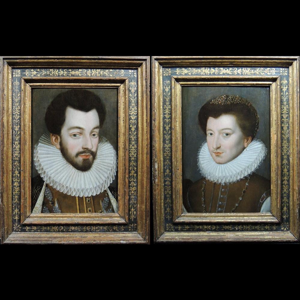 Henri III et Paul Stuart de Caussade – Ecole de François Clouet 16ème siècle.