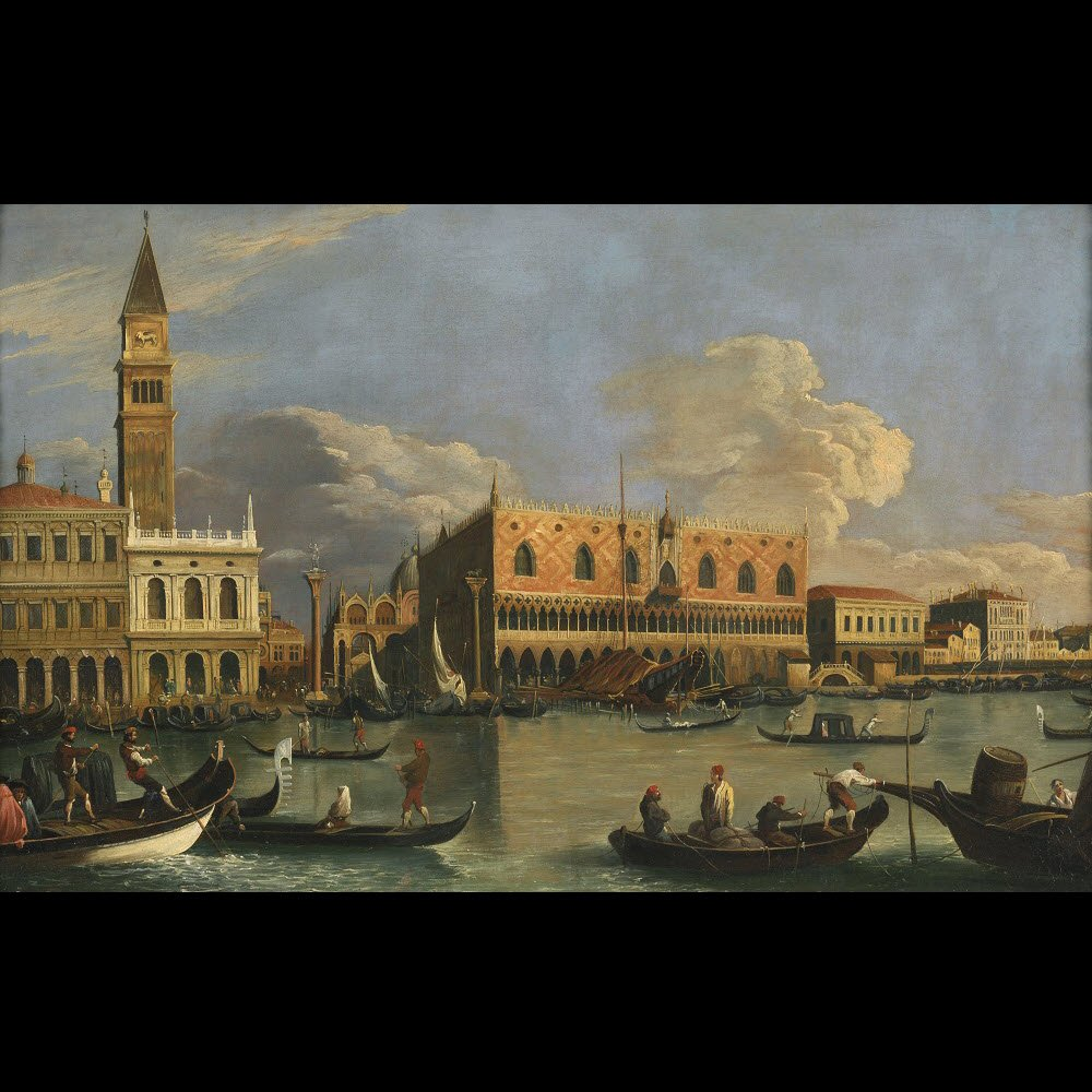 Veduta du Molo de Venise – Ecole de Canaletto – Fin du 18e siècle-photo-2
