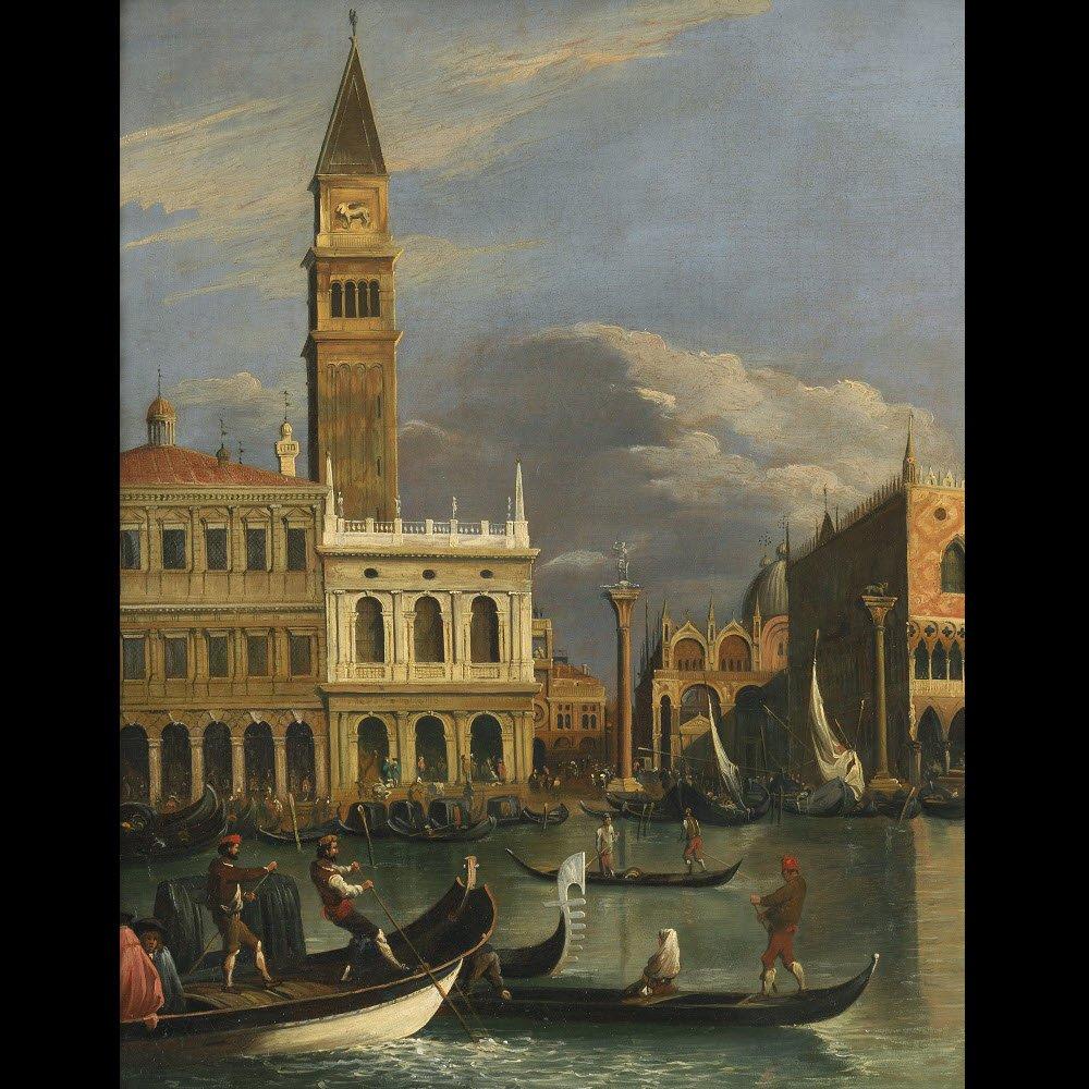 Veduta du Molo de Venise – Ecole de Canaletto – Fin du 18e siècle-photo-3