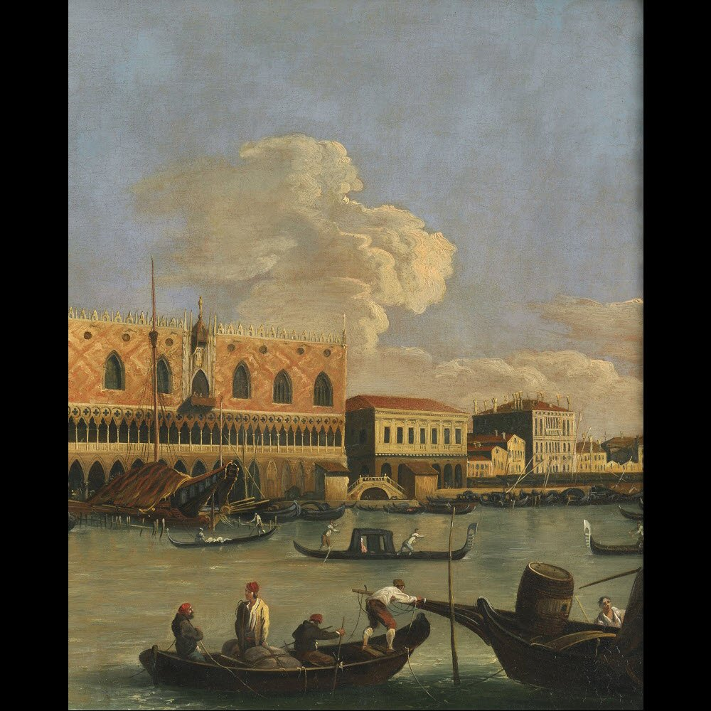 Veduta du Molo de Venise – Ecole de Canaletto – Fin du 18e siècle-photo-4