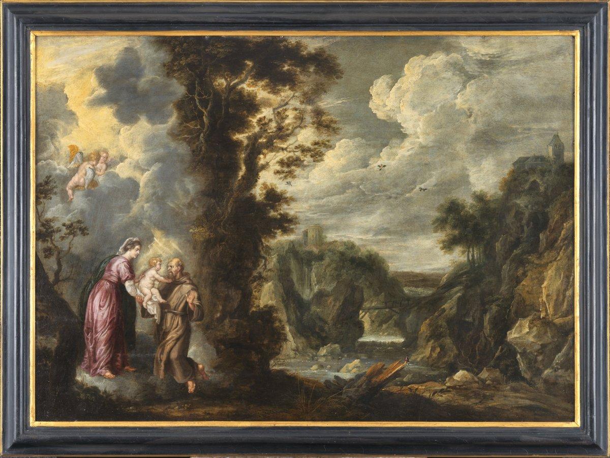 La Vierge présentant l'Enfant Jésus à St-François – Guilliam Forchondt l'Ancien (1608 – 1678)-photo-4