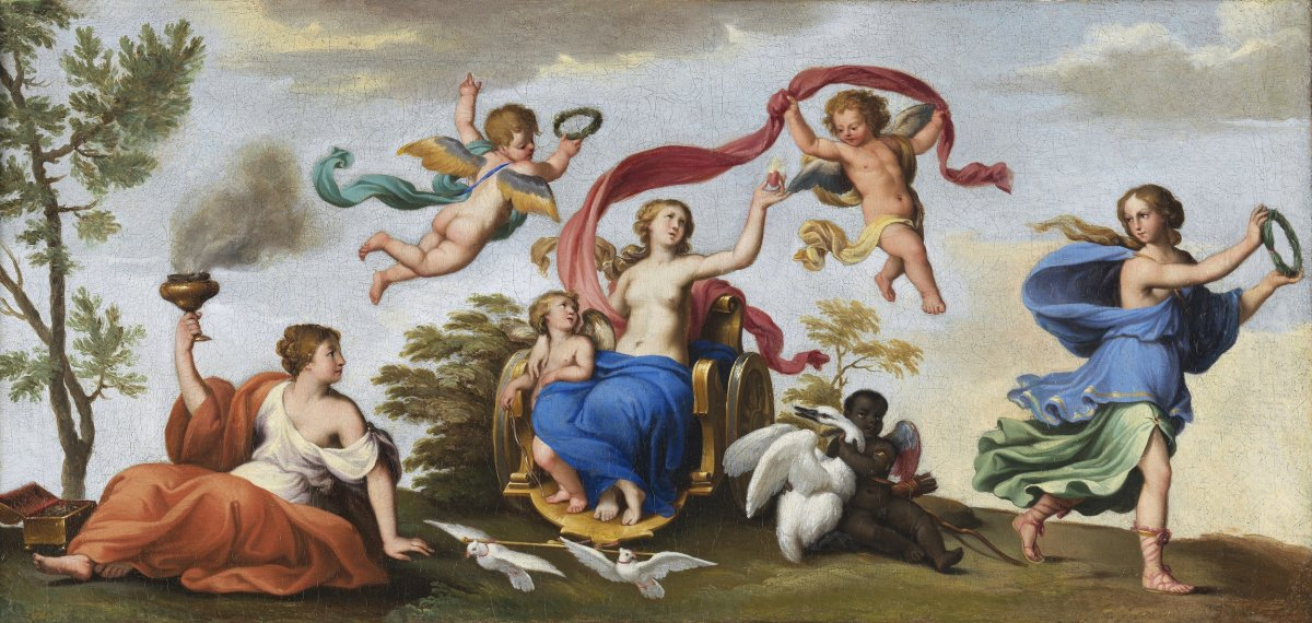 The Chariot Of Venus - 17th Century French School