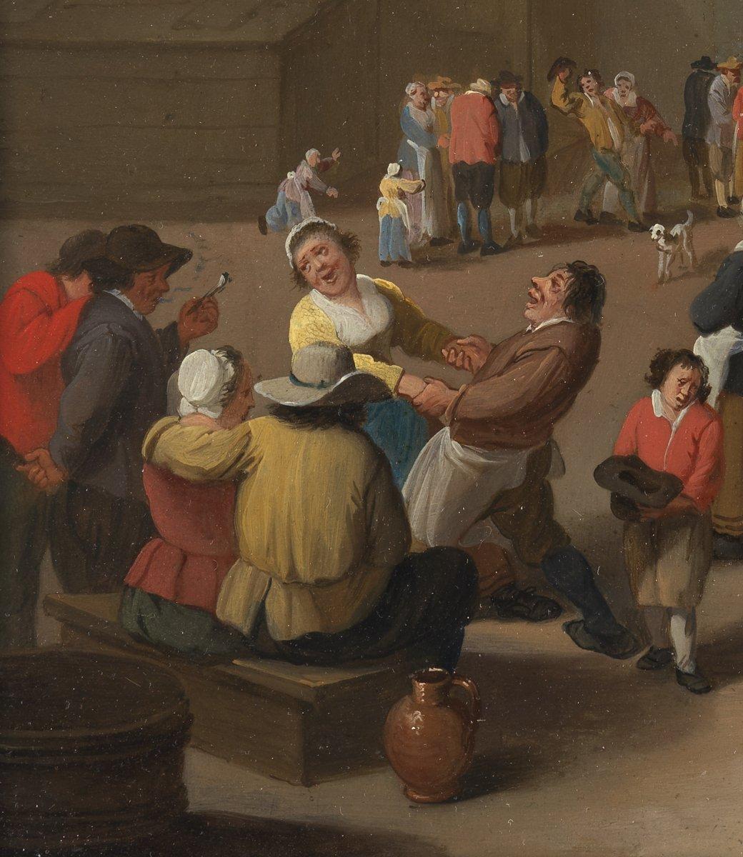 Réjouissances Paysannes – signé Mattheus Van Helmont (1623 – 1679)