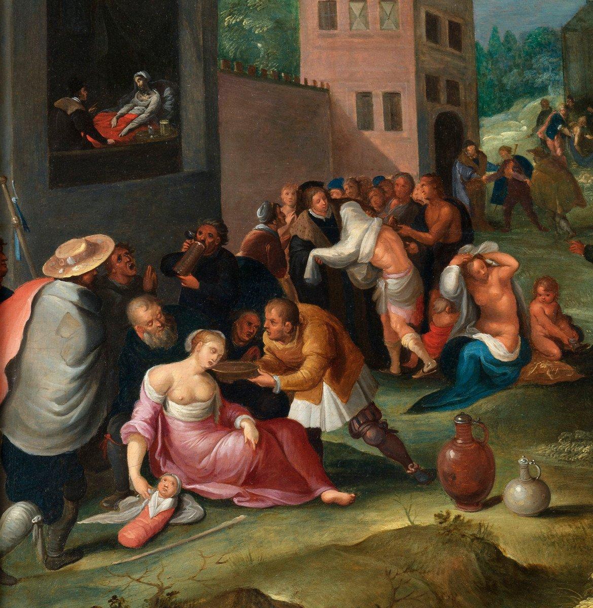 Les 7 œuvres De Miséricorde - Frans II Francken Et Atelier Vers 1615-photo-1