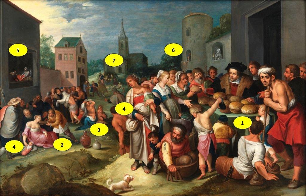 Les 7 œuvres De Miséricorde - Frans II Francken Et Atelier Vers 1615-photo-5