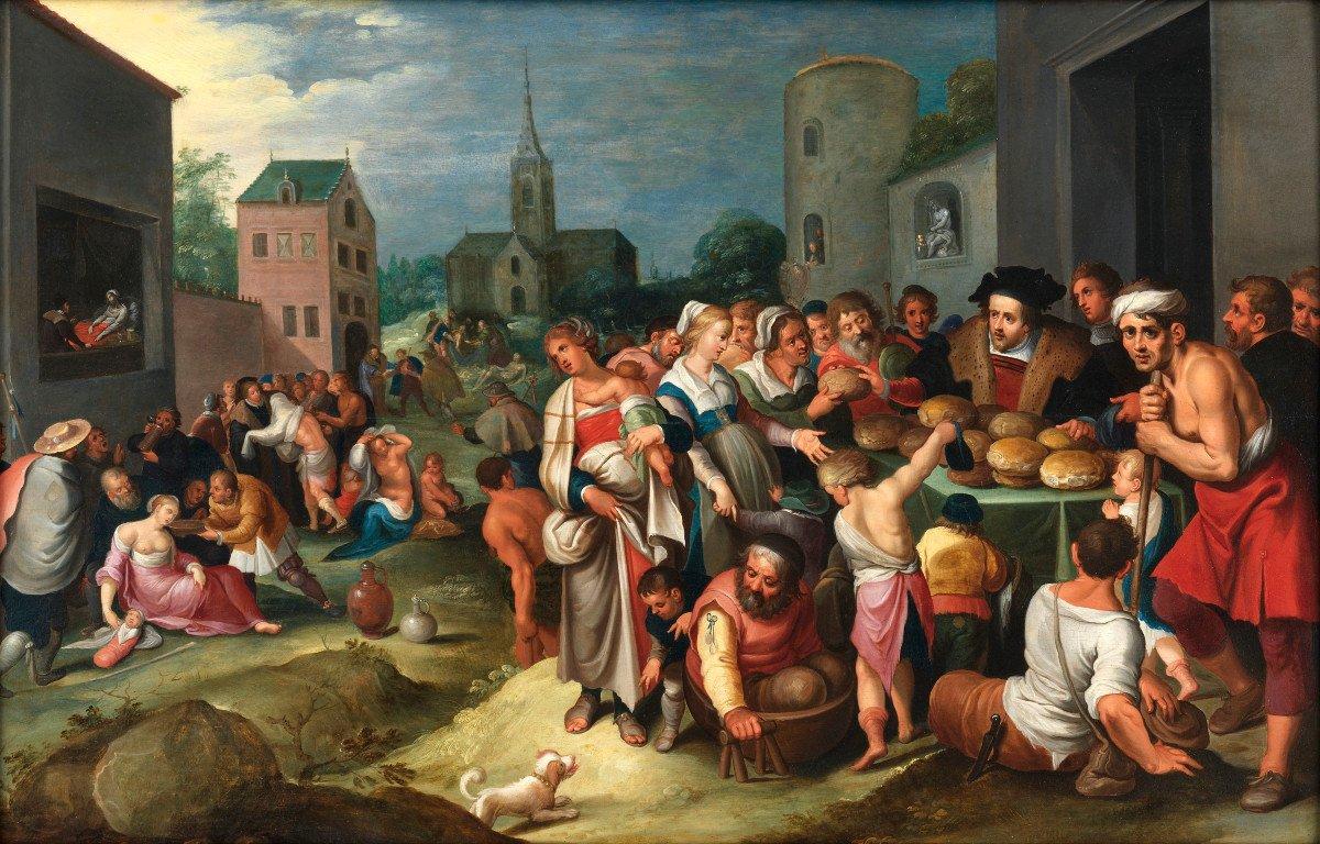 Les 7 œuvres De Miséricorde - Frans II Francken Et Atelier Vers 1615