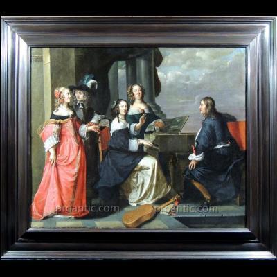 Concert en plein air - Ecole hollandaise 17ème siècle - Atelier Jan Mytens