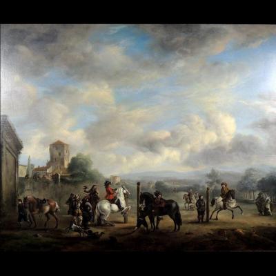 Atelier de Philips Wouwerman - L'Académie d'équitation – école hollandaise XVIIème siècle