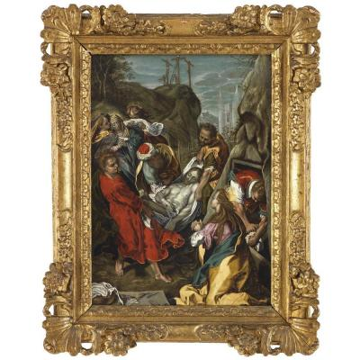 Disciple De Federico Barocci – Mise Au Tombeau