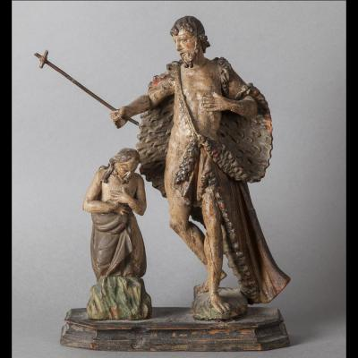 The Baptism Of Christ - South Germany Late 17th Century