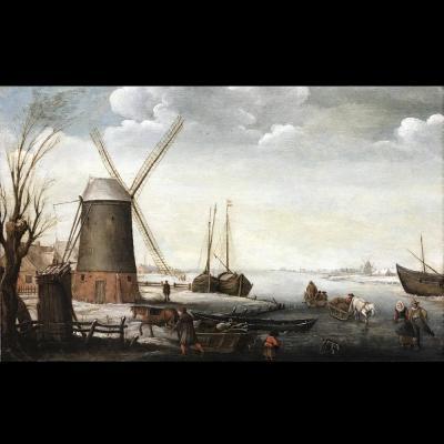 Paysage hivernal – Atelier d'Anthonie Verstraelen (1594 – 1641)