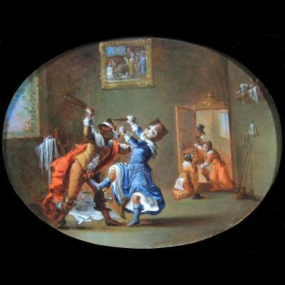 Ecole De Ferdinand Van Kessel Vers 1700 – Comme Chien Et Chat