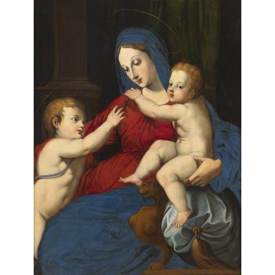 Virgin And Child And St John The Baptist - Italian Renaissance