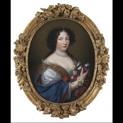 Portrait Of Marie Musy Around 1680 By Jean Guynier (1630 - 1707)