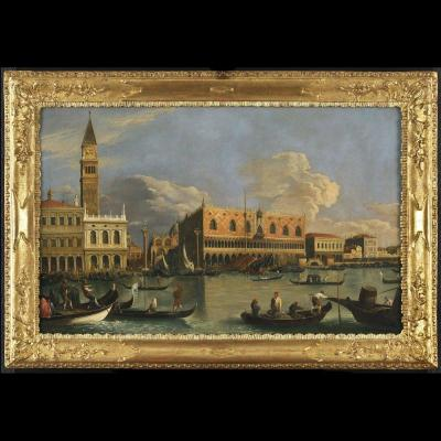 Veduta Of Venice Molo - Canaletto School - Late 18th Century