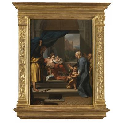 Madonna Della Gatta - Italian School Of The 17th Century