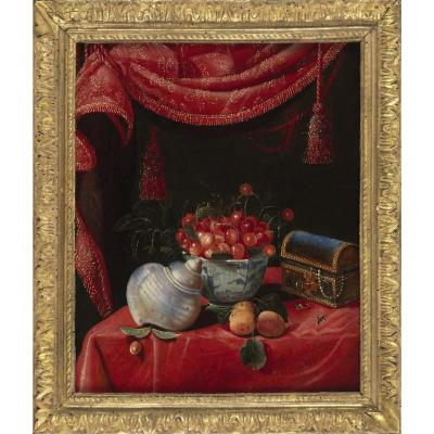 Still Life With Chinese Porcelain - Attributed To François Habert