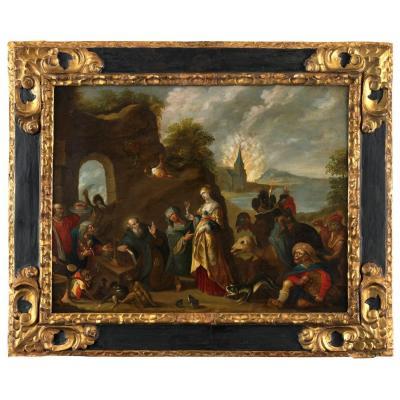 Temptation Of Saint Anthony - Workshop Of Frans II Francken (1581 - 1641)