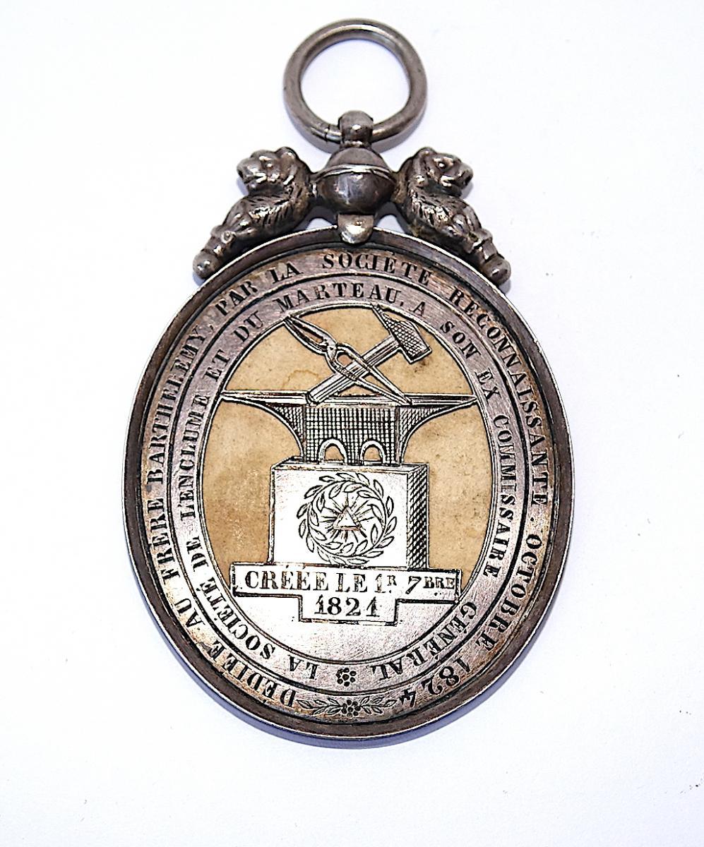 SOCIETE de l'ENCLUME et du MARTEAU 1824, COMPAGNONNAGE