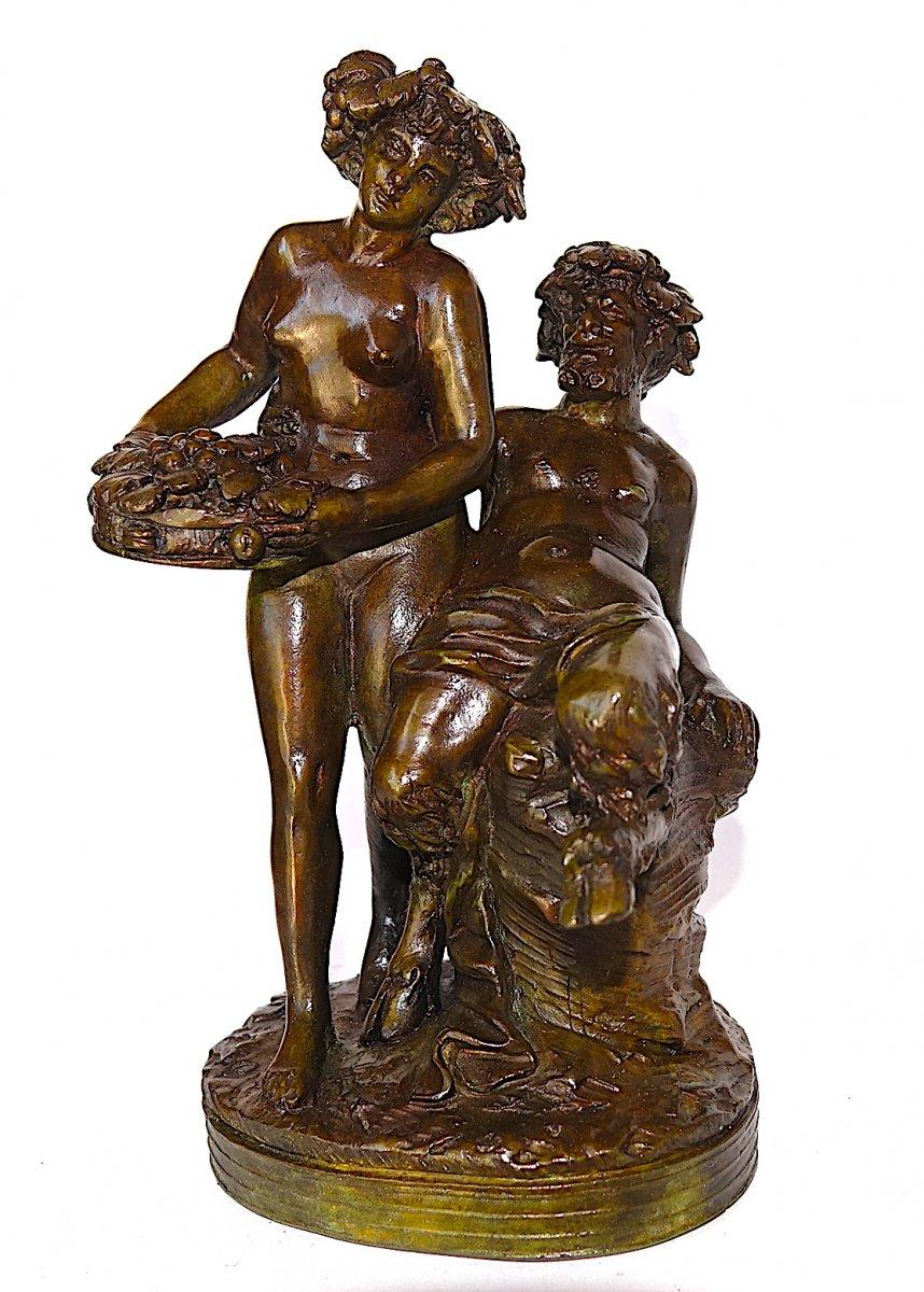 Groupe En Bronze d'apres Clodion