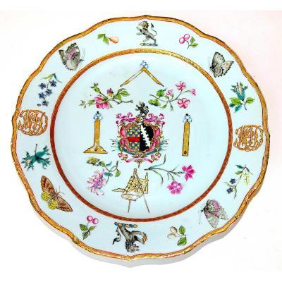 Masonic, Company Of Indies Assiette, 1780