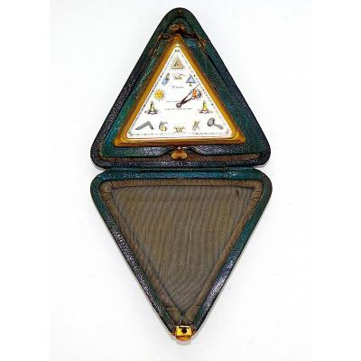 PENDULETTE de VOYAGE 1900, FRANC MACONNERIE, MACONNIQUE